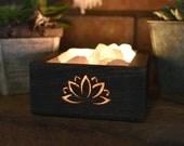 Lotus Flower Himalayan Salt Lamp - Hopper Style