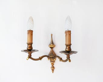 Antique French bronze wall sconce-lighting-Bronze lighting-Wall hanging sconces-Bronze retro lighting-wall light-wall lamp-shabby chic