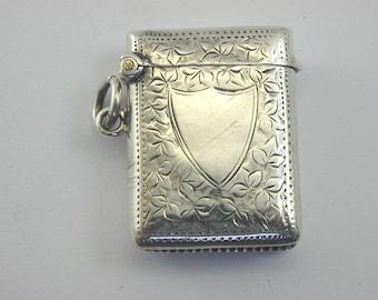 1912 silver Vesta case 17.4g 39.1mm by 39.7mm