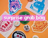 Surprise Grab Bag - Patches, Pins & Stickers