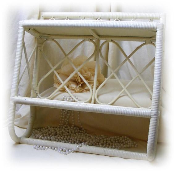 Shelf & Towel Bar . . . Mixture of Rattan, Wicker and Wood