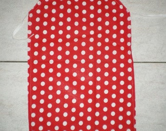 Tablier001 - Apron adult red dots