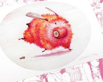 4LEFT! Pinky Toes Hand Embellished Fine Art Print