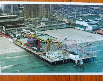 Retro 80's Postcard Atlantic City Pier New Jersey