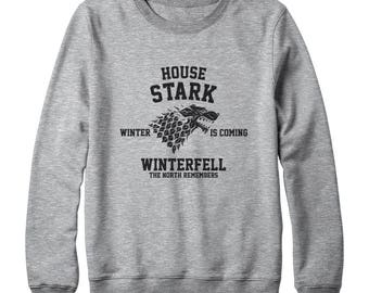House Stark Shirt Game of Thrones Shirt Winter Is Coming Shirt Winterfell Shirt Game Of Thrones Sweatshirt Oversized Women Sweatshirt Men