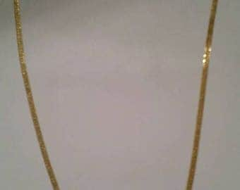 SALE Vintage Woven Gold Necklace Costume Jewelry