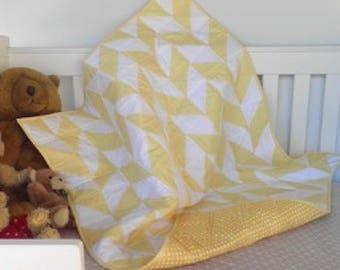 Baby Quilt - Modern Baby Quilt - Toddler Quilt - Baby Shower - Baby Gift