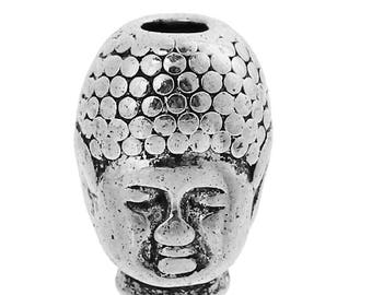 Buddha beads - 10 STK. - 13 x 9 mm - colour selectable (color - antique silver)