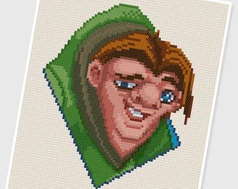 PDF Cross Stitch pattern - 0046.Quasimodo ( Hunchback of Notre Dame ) - INSTANT DOWNLOAD