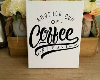 Coffee Wall Decor, Canvas Wall Art, Rise U0026 Grind, Coffee Please, Coffee