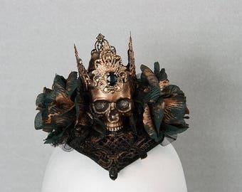 Royal death Gothic steampunk Fascinator one-OFFS handmade OOAK