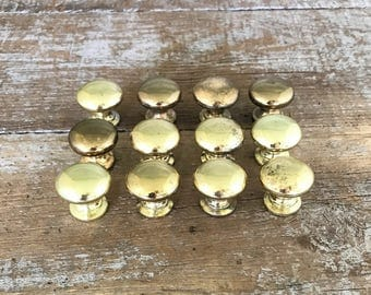 Drawer Knobs  Small Drawer Pulls Small Brass Knobs Dresser Knobs Cabinet Door Knobs Home Improvement