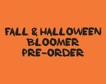PRE-ORDER. Fall Bloomers. Halloween Bloomers. Baby Girl Diaper Covers. Made to Order.