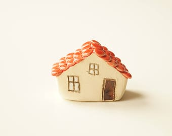 Miniature Ceramic House, Cake Topper, Housewarming Cake Topper, Wedding Cake Topper, Ceramic Cake Topper by Her Moments