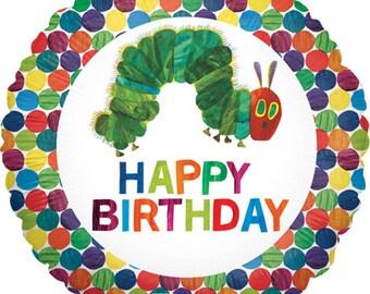 "18"" Very Hungry Caterpillar Balloon  / The Very Hungry Caterpillar Theme Party  / The very hungry caterpillar"