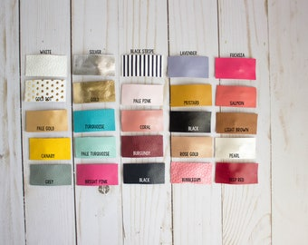 Leather Snap Clips, Faux Leather Snap Clips