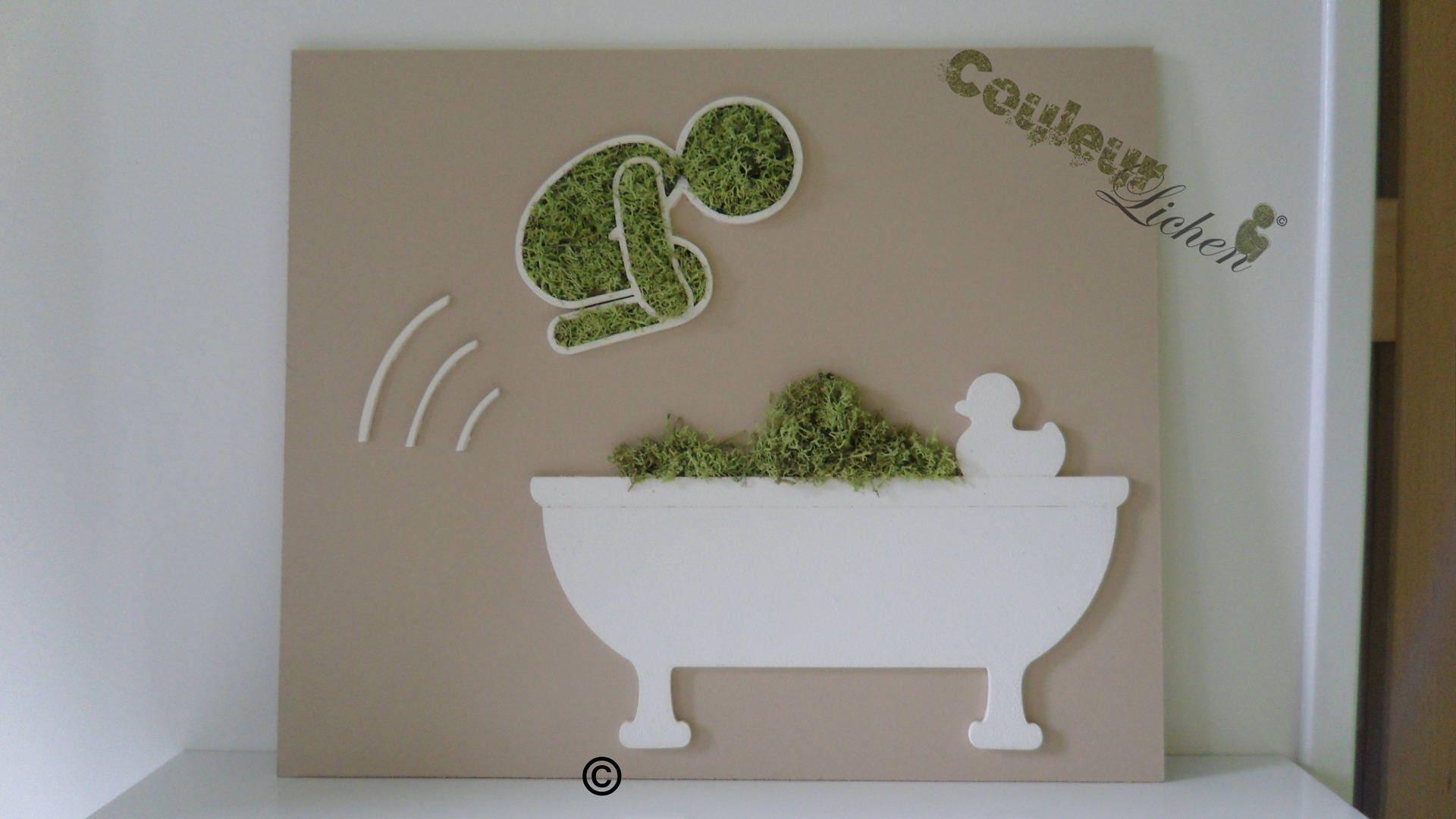 le plongeur d coration en lichen pour la salle de bain. Black Bedroom Furniture Sets. Home Design Ideas