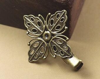 X 2 35 * 40mm (T216) bronze flower Bobby pins