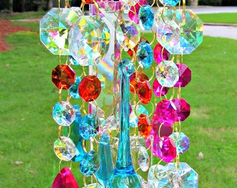 Crystal Wind Chime, Sun Catcher, Glass Wind Chime, Garden décor,  Crystal Windchime, Crystal Sun Catcher, Windchime, MWC 149