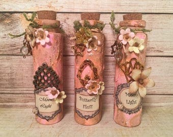 Pink Decorative Glass Bottles