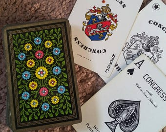 vintage deck of playing cards antique CONGRESS Bridge