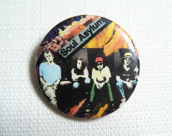 Vintage Early 90s Soul Asylum Pin / Button / Badge