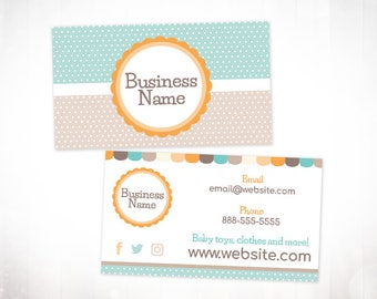 Premade Business Card Design • Baby Dots