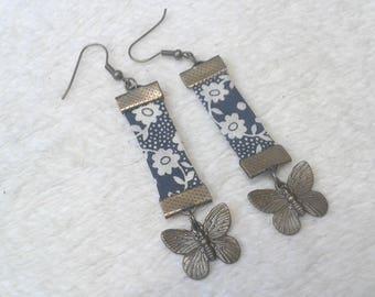 Liberty black butterfly earrings