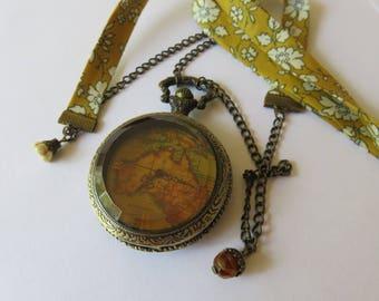 World map Pocket Watch Pocket Liberty