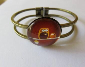 Brown OWL branch Bangle Bracelet