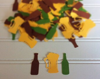 Beer confetti / beer mug confetti / bachelor party / man cave / Beer / Birthday party / Bachelor / Men / Husband / drinks decor / Sports