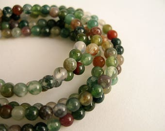 60 agate beads 4mm Indian
