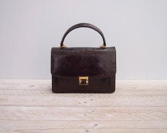 1950s Handbag - Vintage 50s Snakeskin Handbag - 50s