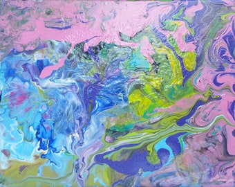 Multicolored Poured Painting