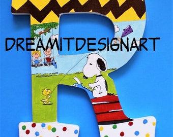 Snoopy Alphabet Letter R