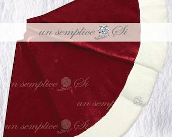 Velour and Fur  Christmas Tree Skirt, Design your Custom Tree Skirt, Velour and Sequin