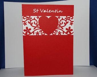 St Valentine headband heart card