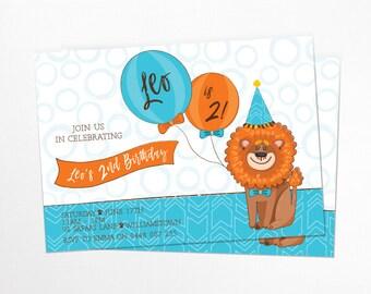 King of the Jungle Birthday Invitation - Printable