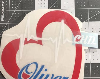 CHD personalized 6 inch Decal