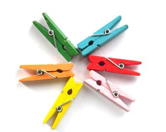 10 Assorted Clothes Pegs