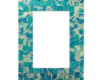 Blue & Aqua Glass Photo Frame