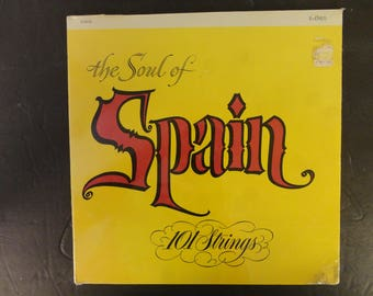 Alshire Records presents 101 Strings The Soul of Spain the world's first stereo scored Orchestra S-5018 Stereo antiquelong play record album