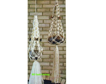 Macrame Plant Hanger Pattern Vintage 1970's Macrame Home Decor Instant Download on BC Funk Factory