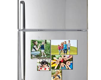 Customized Photo Magnets - free design by bannerbuzz