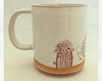 Boho Double Cactus Mug