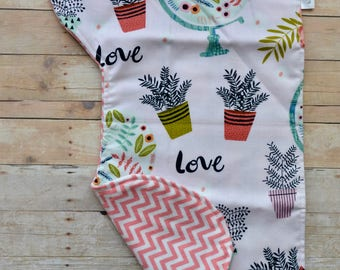 Burp Cloth - Love Burp Cloth - Boho Burp Cloth - Gender Neutral Burp Cloth - Chevron Burp Cloth-  Baby Burp Cloth - Baby Girl Burp Cloth
