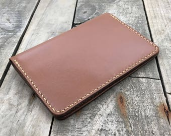 Cappuccino Kangaroo Leather Passport Wallet, Travel Wallet, Passport Case, Leather Passport Holder, Leather Notebook Cover, The Turramurra