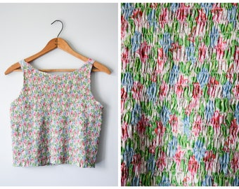 90s Gap smocked crop top | Fits many