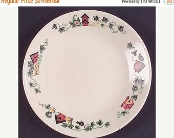 "ON SALE Corelle GARDEN Home Lot of 7 Bread & Butter Plates Birdhouses Water Canister 6 3/4"" Excellent Condition"
