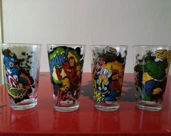 Marvel 4 Piece Glass set